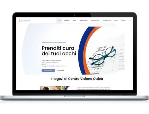 """Sito Web negozio di ottica """"Centro Visione Ottica"""""""