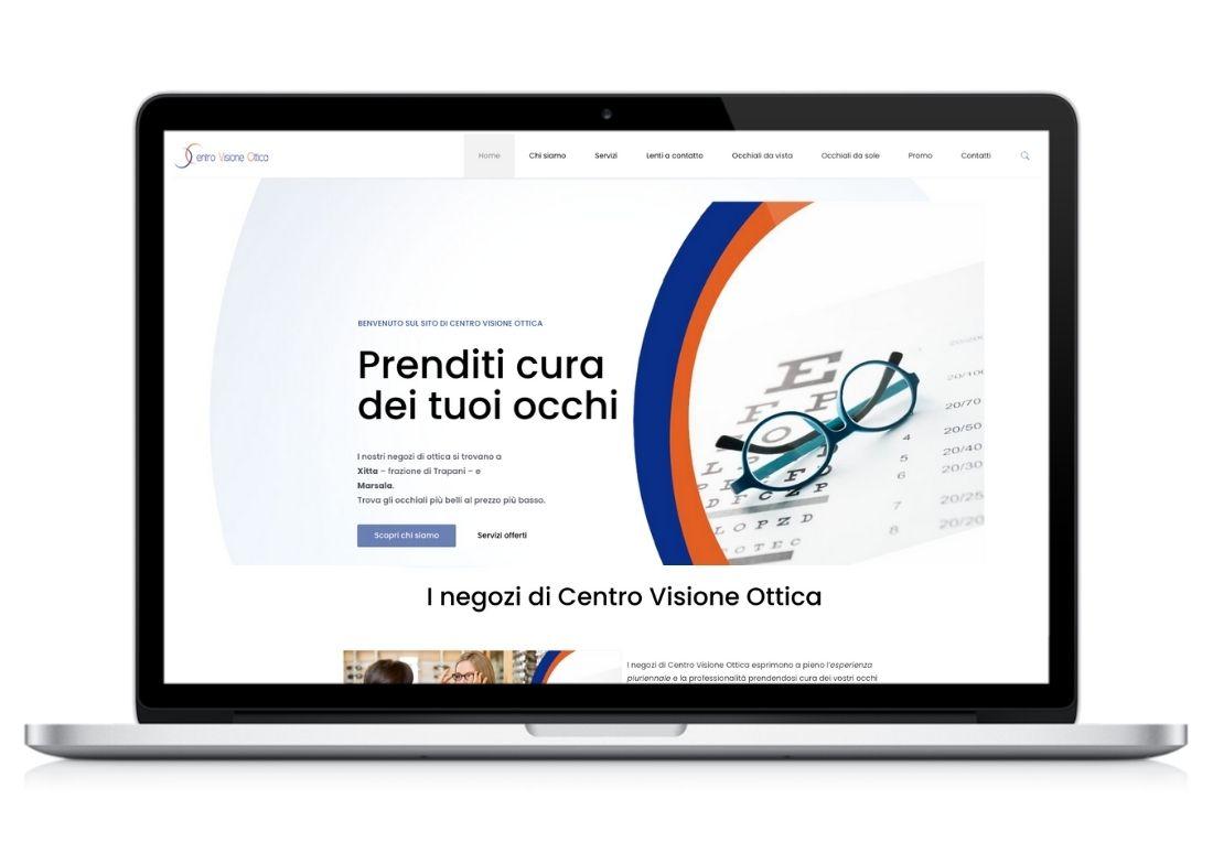 Home page del sito web Centro Visione Ottica