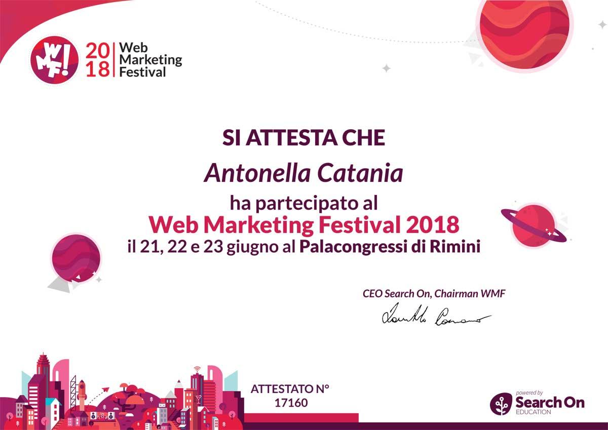 Attestato Partecipazione WMF 2018