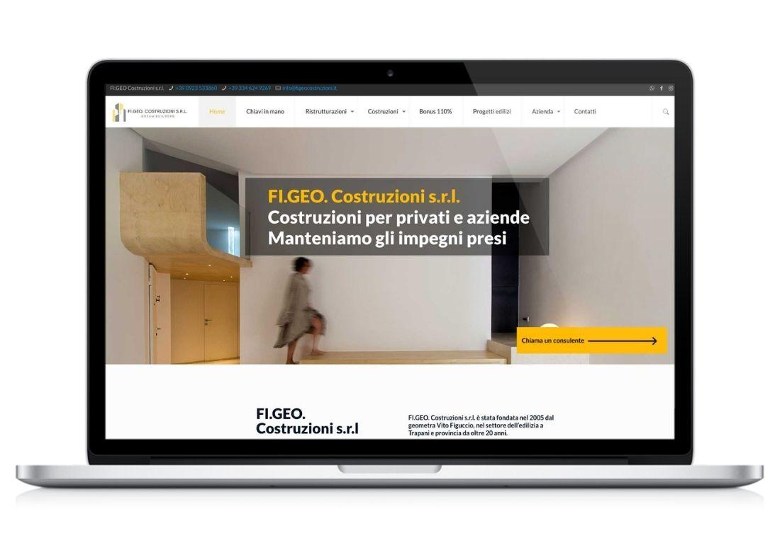 Home page sito web impresa edile Figeo