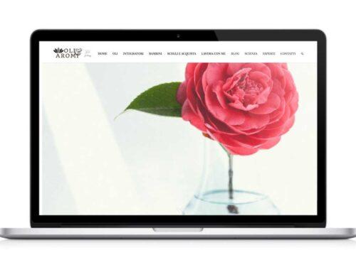 """Sito web per consulenti e professionisti """"Oli&Aromi"""""""
