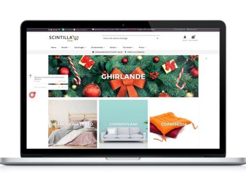 E-commerce casalinghi e arredamento Scintilla Shop