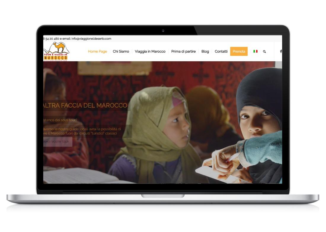 Home page sito web Viaggio nel Deserto