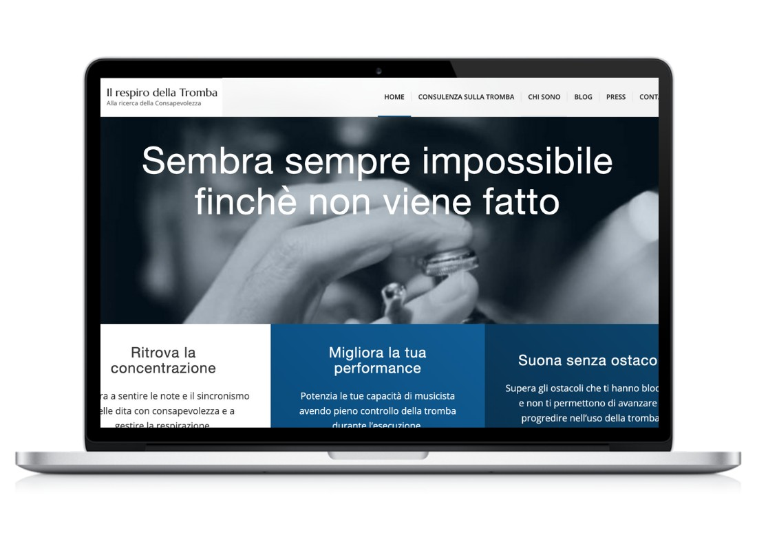 home page sito web Il respiro della tromba